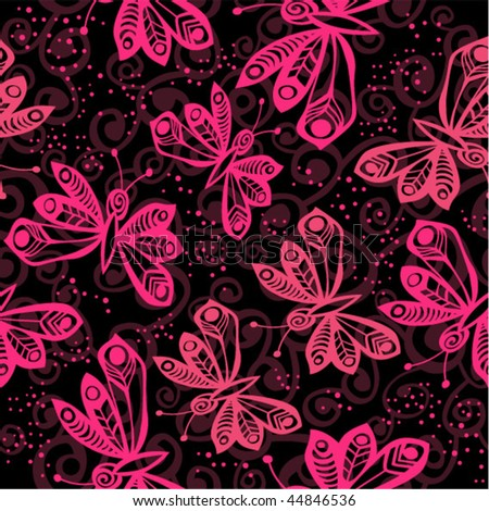 romantic butterfly seamless