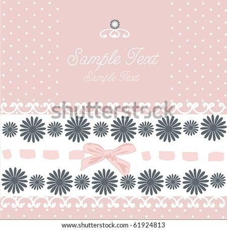 Romantic Card Design Stock Vector 61924813 : Shuttersto