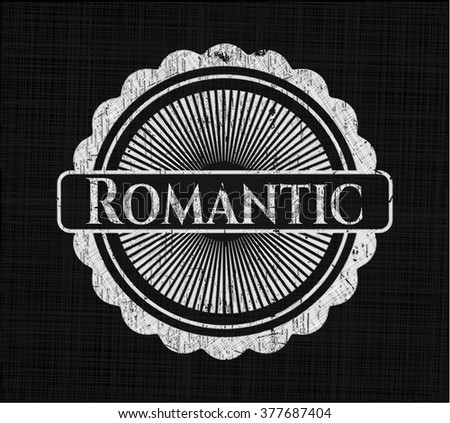 Romantic chalk emblem