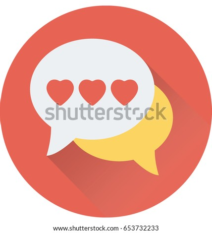 Romantic Chat Vector Icon