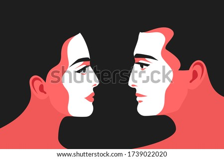 romantic concept couple in