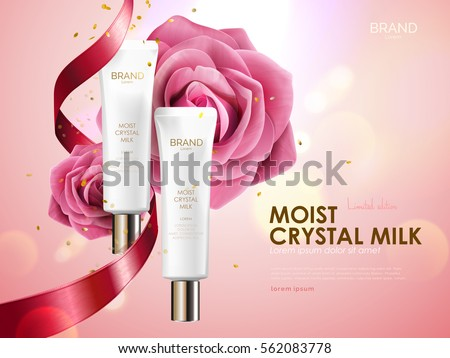 romantic cosmetic ads  skin