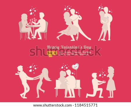 Romantic Couple dancing icons