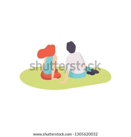 romantic couple enjoying picnic