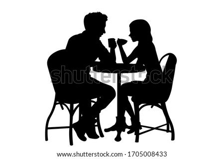 romantic couple sitting at the