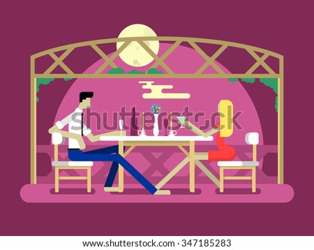 romantic date design love