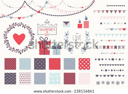 romantic decor set 15 garland
