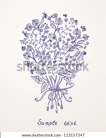 Romantic design with a bouquet of flowers