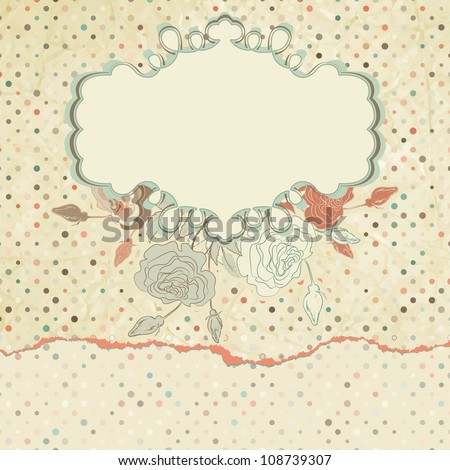 Romantic elegant floral background with vintage roses. And also includes EPS 8 vector