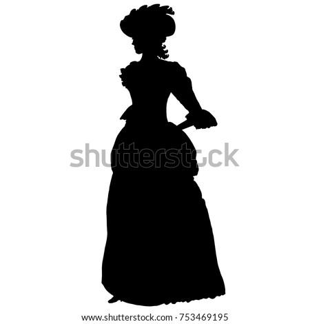 romantic female silhouette in