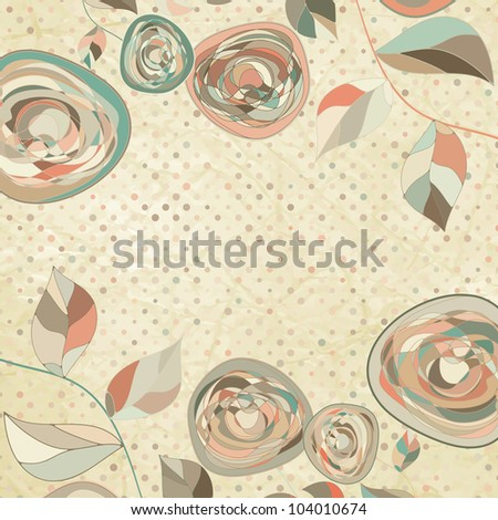 Romantic floral background with vintage roses. And also includes EPS 8 vector