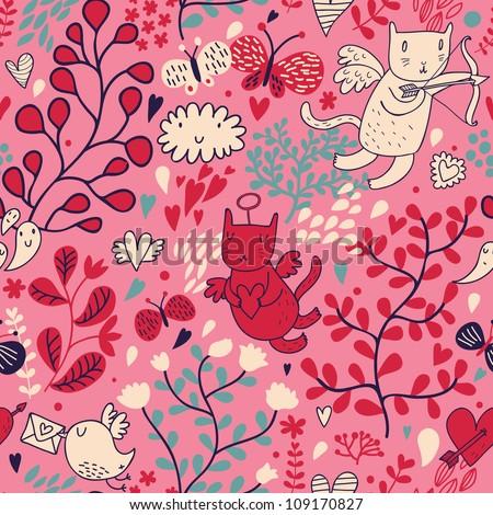 romantic floral valentine