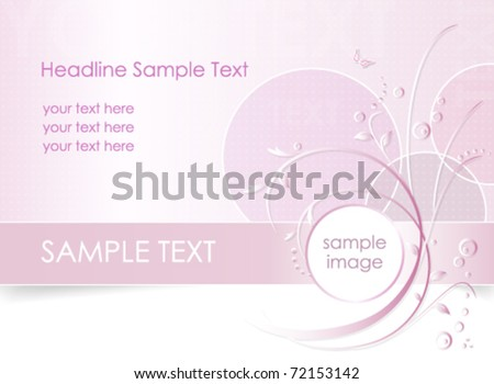 Romantic flower background - floral greeting card - white, pink and purple - suitable for themes like love, beauty, spring, valentine, birthday, wedding and the like - vector, eps10