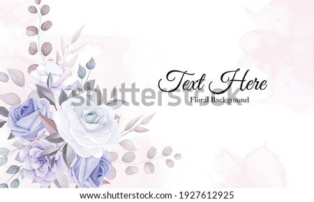 romantic flower background with
