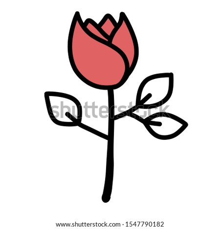 Romantic flower - - Romantic hand drawn icon set