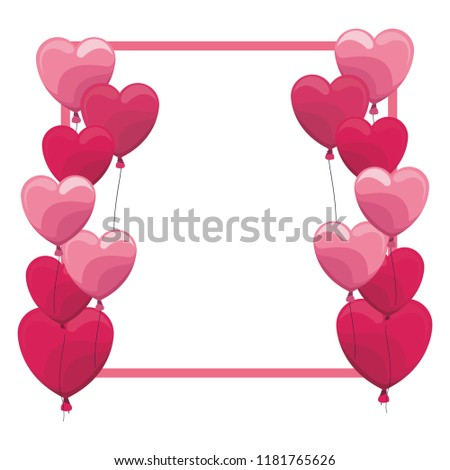 Romantic frame with hearts #1181765626