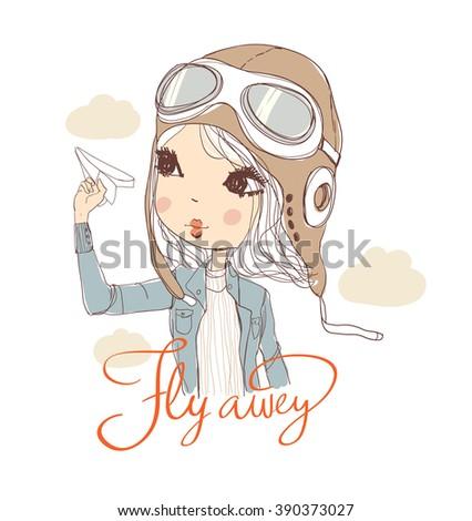 romantic girl  illustration