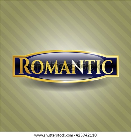 Romantic gold badge