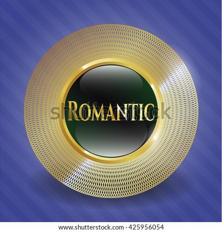 Romantic golden badge