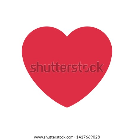 romantic heart icon for