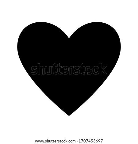 Romantic Heart Icon vector flat design