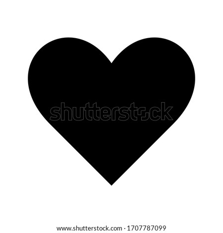 Romantic Heart Icon vector flat design in trendy style for Marriage Celebration.eps 10