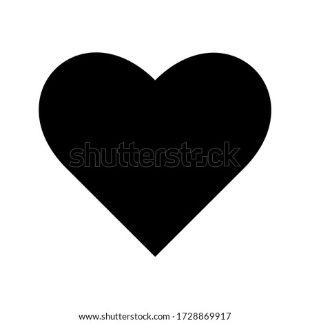 Romantic Heart Icon vector flat design in trendy style for Marriage Celebration eps 5