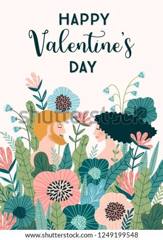 romantic illustration with