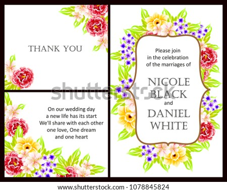 Romantic invitation. Wedding, marriage, bridal, birthday, Valentine's day.