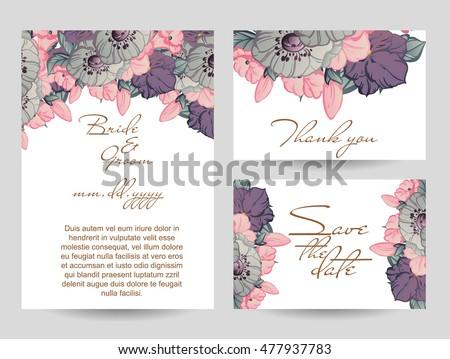 Romantic invitation. Wedding, marriage, bridal, birthday, Valentine's day
