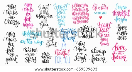 romantic lettering set