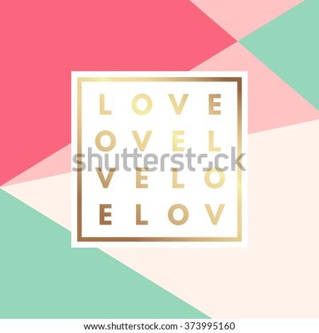 romantic love gold minimal logo ...