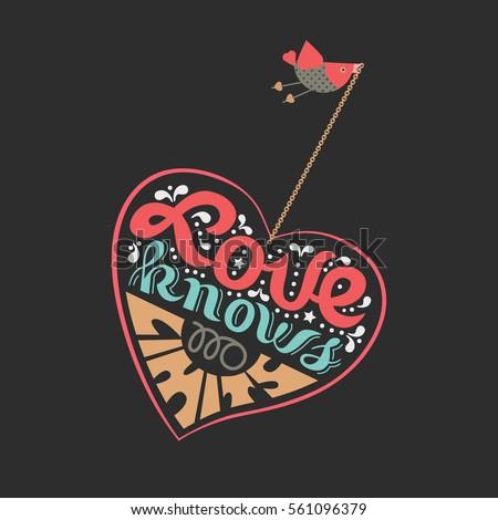 romantic love poster flying