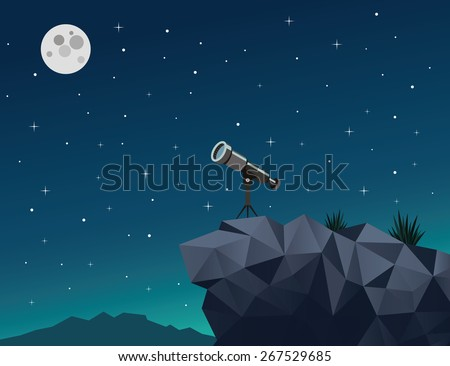 romantic night sky with stars
