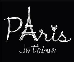 romantic paris graphic for t-shirt
