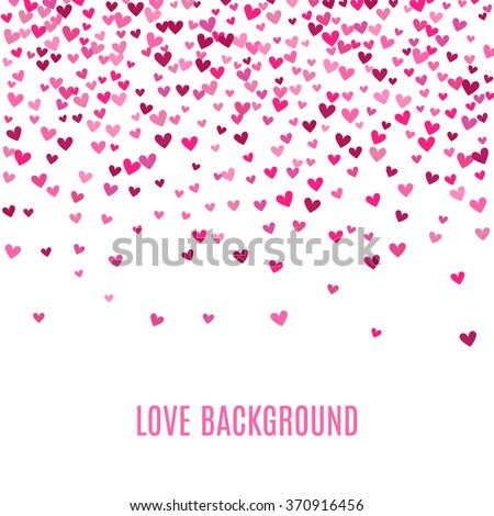 romantic pink heart background