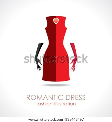 romantic red dress fashion