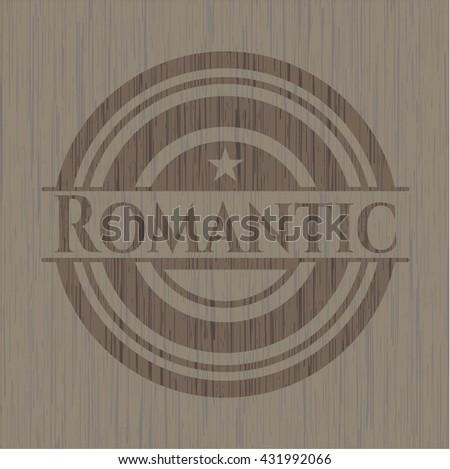 Romantic retro wood emblem