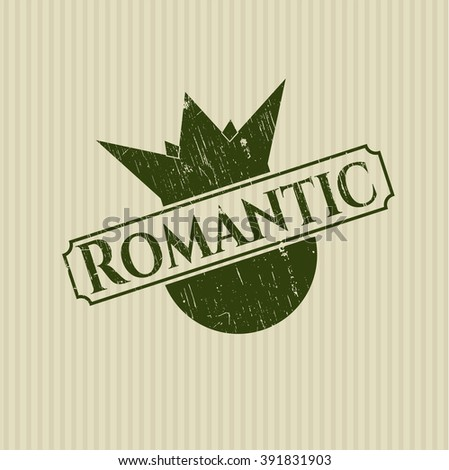 Romantic rubber stamp