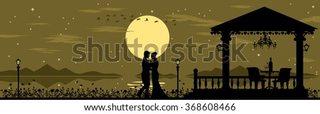 romantic  silhouette background