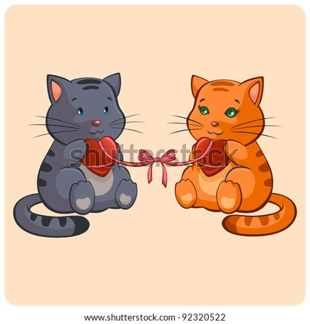 stock-vector-romantic-two-cats-in-love-funny-illustration-in-vector