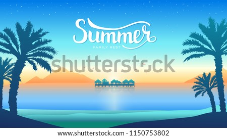romantic vacation on the beach