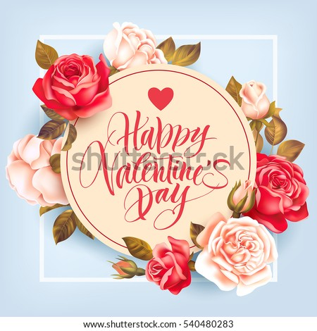 romantic valentine card with