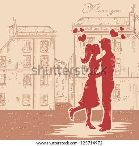 romantic valentine retro