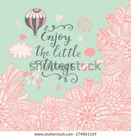 romantic vector background with