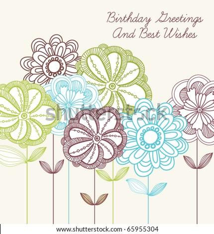 stock vector : Romantic vector. happy birthday card wit