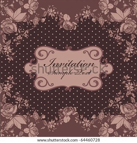 Romantic Vintage Card Design Or Package Design Stock Ve