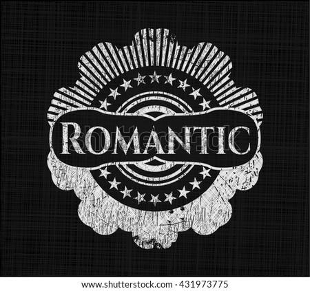 Romantic written on a chalkboard
