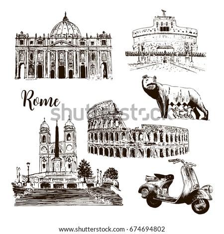 rome architectural symbols ...