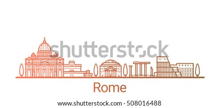 rome city colored gradient line